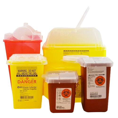 Contenants à déchets biomédicaux